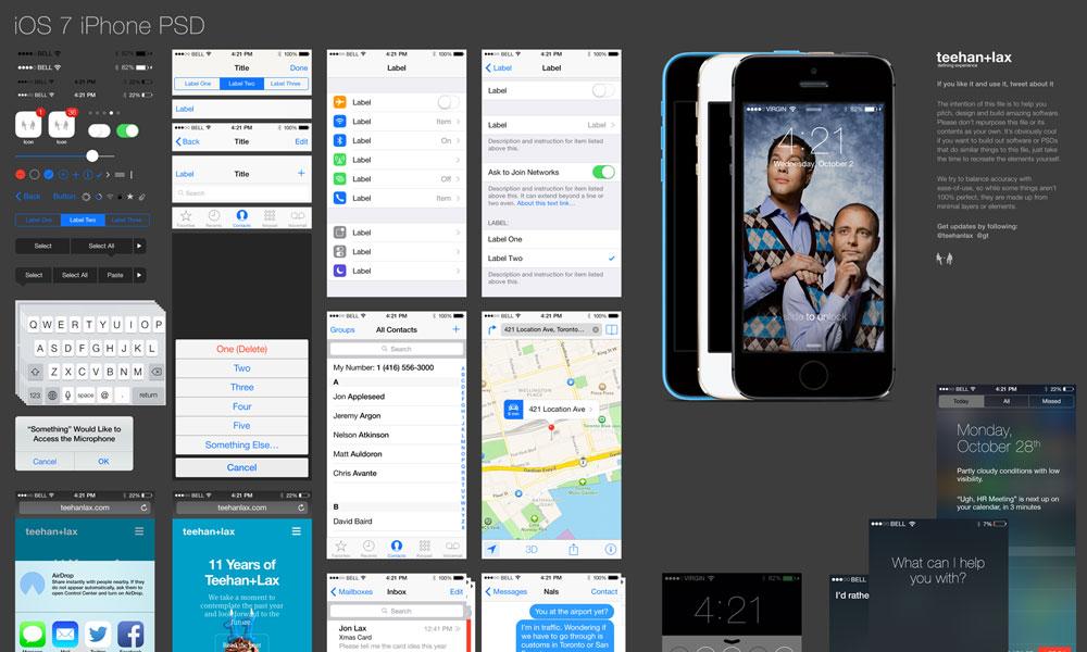 iOS7 Phone GUI PSD